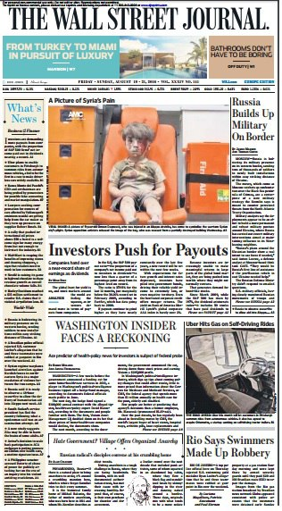 The Wall Street Journal Europe  August 19 2016