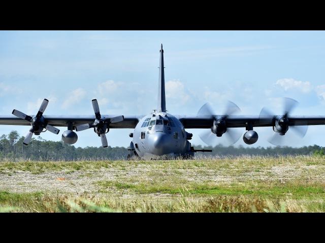 Легендарный Ангел Смерти ВВС Америки AC 130 в действии