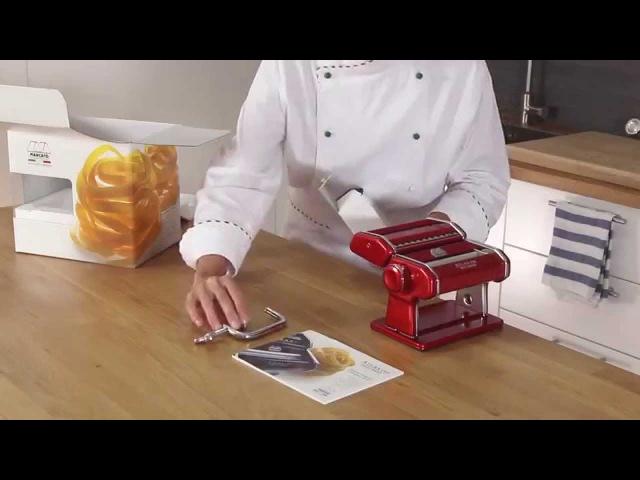 Homemade fresh pasta with Marcato Atlas 150 Video tutorial