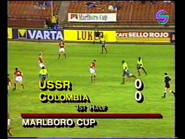 Тов матч 1990 Колумбия СССР 0 0 П 4 2 Полный матч