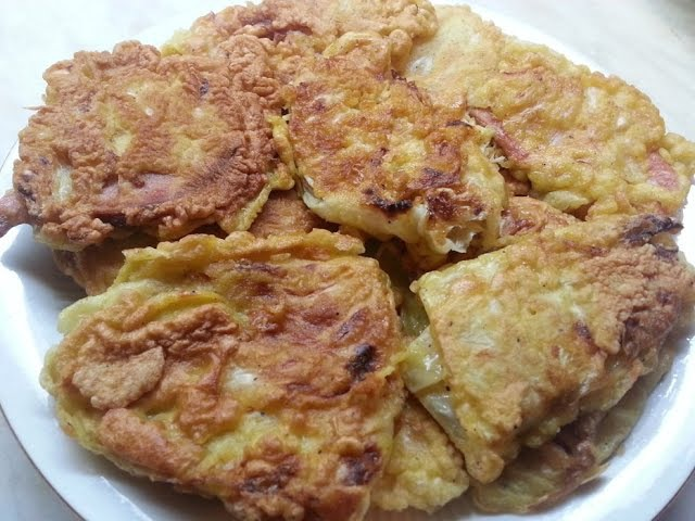 Жаренная капуста с начинкой в кляре Cabbage envelopes stuffed fried in batter