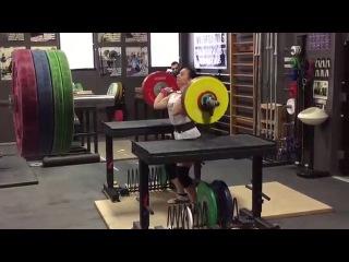 Alyssa Sulay Jerk 107kg at 63kg Bodyweight