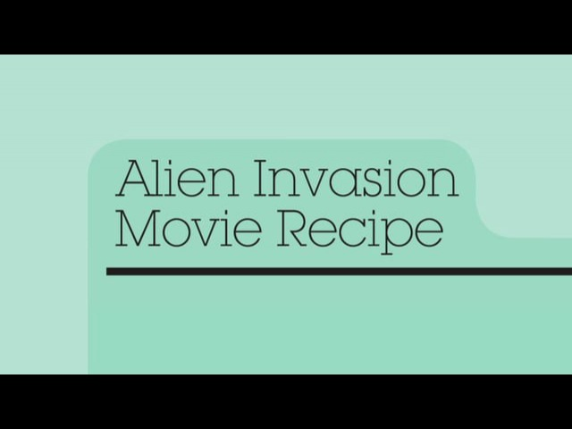 NYILFF 2012 Alien Invasion Movie Recipe