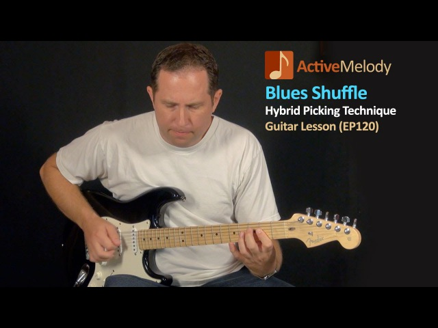 Hybrid Picking - Blues Shuffle Guitar Lesson - EP120