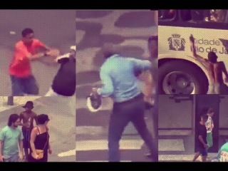 Young Brazilian thieves robbing innocent civilians in Rio during Olympics 2016