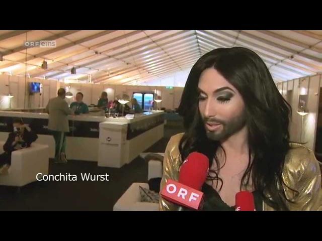 Conchita Wurst erste Probe in der B W Hallerne