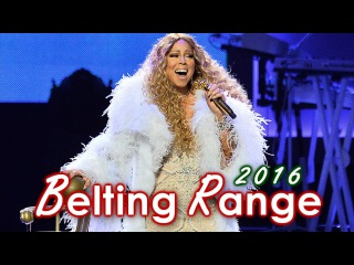 Mariah Carey - Belting Range in 1 minute (2016) [A4 - F#5]