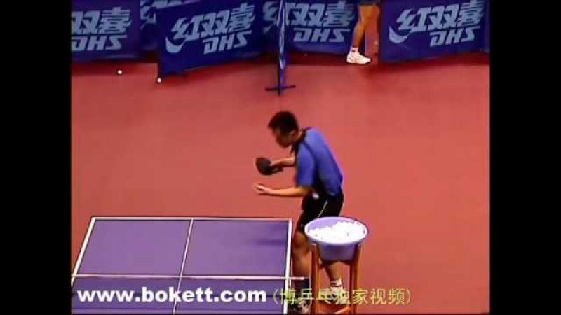 孔令辉发球训练 Kong Linghui service practice