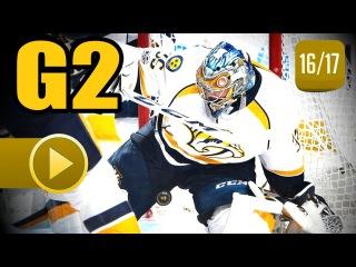 Nashville Predators vs Chicago Blackhawks. 2017 NHL Playoffs. Round 1. Game 2.  (HD)