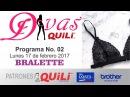 DIVAS QUILI 02 programa del 17 ABRIL 2017 BRALETTE PATRONES GRATIS