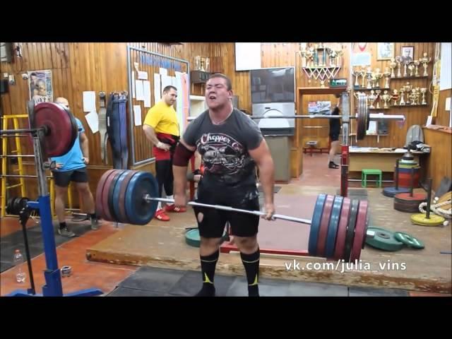 Mikhail Fedorov - 310 kgs / 683 lbs Raw Deadlift x 3 @ 17 Years Old (R.I.P.)