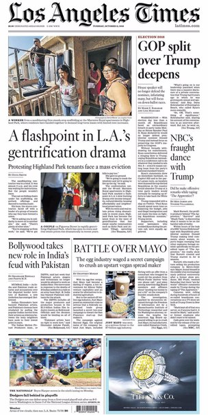 Los Angeles Times  October 11- 2016