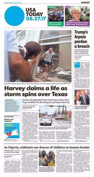 USA Today August 27 2017
