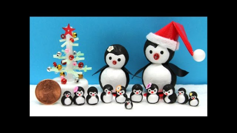 DIY Projects for Kids: How to Make a Mini Penguins Family - Recycled Bottles Crafts Ideas