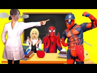 Police looking chase theft Joker Harley Quinn steal KitKat arrest Baby Elsa Spiderman in real life 2