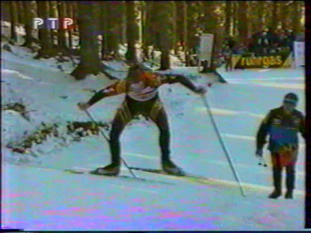 Биатлон-2001.Чемпионат мира в Поклюке. Мужская эстафета.