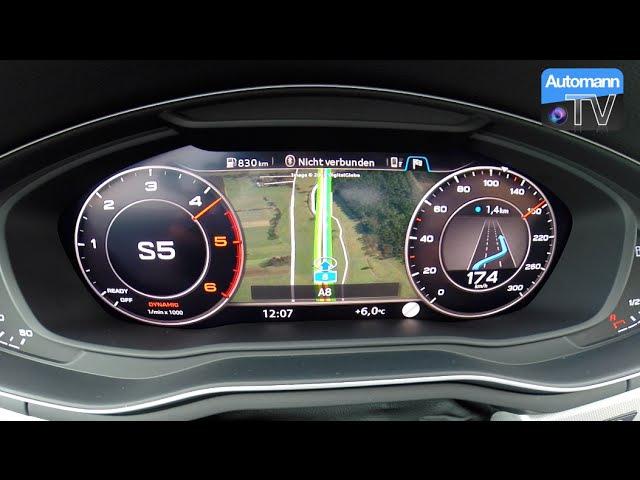 2017 Audi A4 Allroad 2.0 TDI (190hp) - 0-180 km/h acceleration (60FPS)