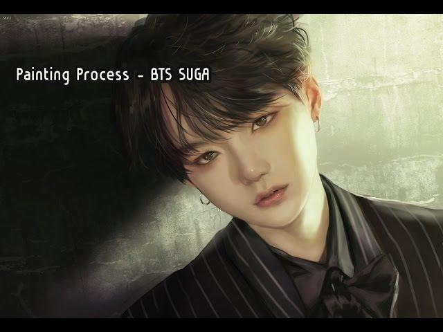 샬이 Speed Painting 방탄소년단 슈가 민윤기 스피드페인팅 BTS SUGA Photoshop CC