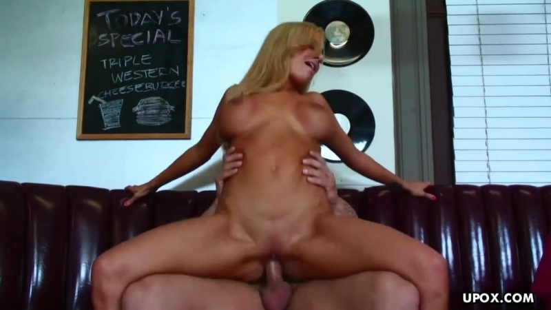 Busty Blonde Sucks And Rides A Cock