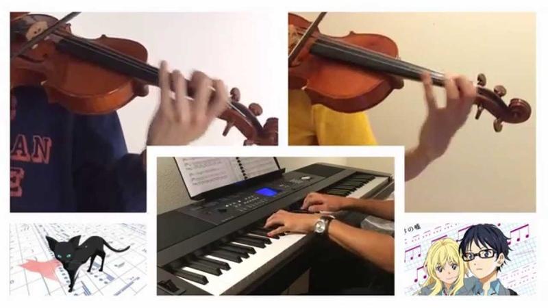 Shigatsu wa Kimi no Uso - Kirameki - 2 Violins and Piano