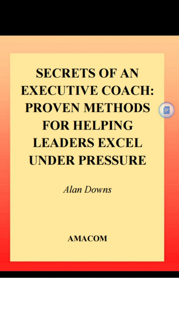 Secrets of an Executive Coach Proven