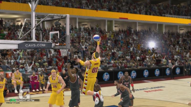 NBA 2k 11 Асоциации Финал востока Кливленд Маями МАТЧ 2 Алей уп