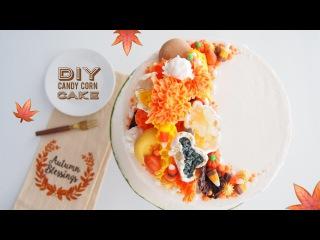 DIY Candy Corn Cake | Satisfying Cake Decorating | Greggy Soriano