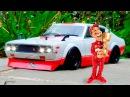 Мультфильмы про Смелые Гоночные Машины и Монстр Трак Гонки в Городке 2D Мультики