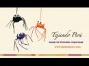 Arañas de Halloween tejidas a crochet