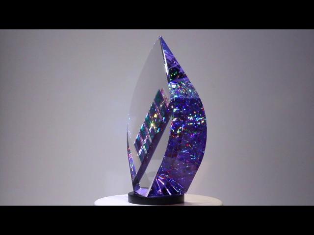 Purple Phoenix Glass Sculpture by Jack Storms