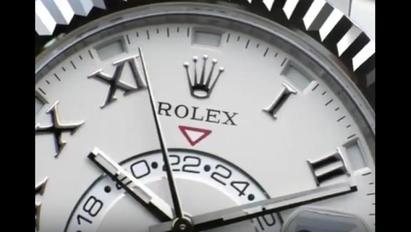 РЕКЛАМА стильная красивая реклама часов Ролекс Rolex Sky Dweller 9001 movement