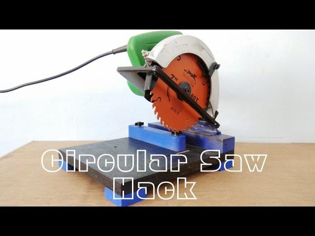 Circular saw Hack Make A Mini Chop saw Machine