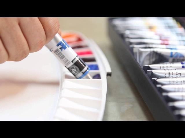 Mijello Mission Set Up For Watercolor Palette 미션 실버 수채화 물감을 짜는 방법
