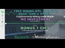Free 1 GH S Cloud Mining For Bitcoin Litecoin Dogecoin Ethereum Other No Invest MiningGurus