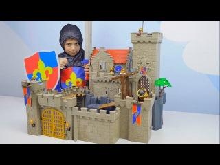 ЗАМОК РЫЦАРЕЙ ЛЬВА Playmobil Toys и Даник против Дракона - Видео для детей с конструктором ПЛЕЙМОБИЛ