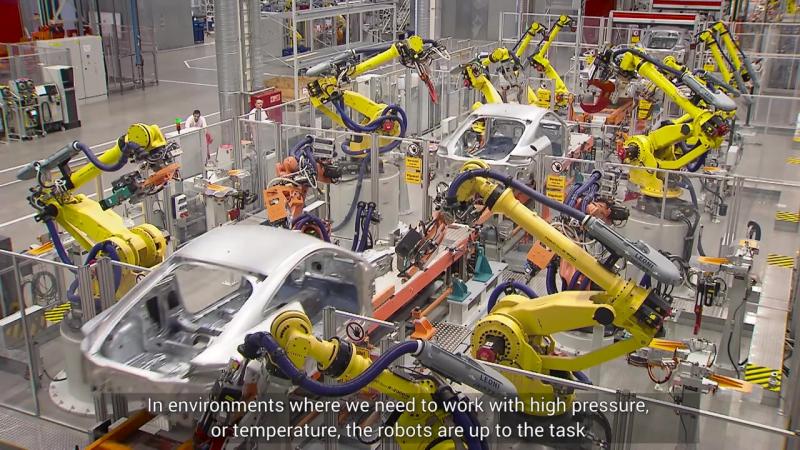 FANUC ipari robotok az AUDI Hungariánál