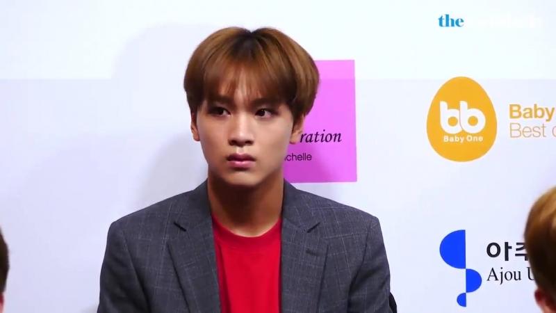 NCT 127 해찬 HAECHAN 포커스 @2018 코리아 브랜드 한류박람회모스크바 홍보대사 위촉식