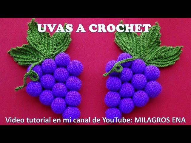 UVAS A CROCHET paso a paso para adorno de cocina en video tutorial MANUALIDADES