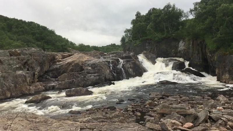 Водопад Мельничный на реке Титовка