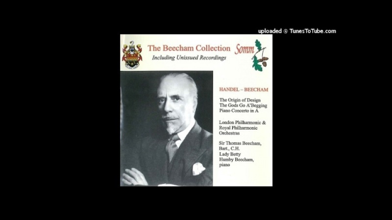 Thomas Beecham (after Handel) : Concerto for Piano and orchestra in A major (1944)