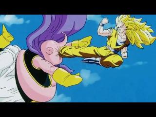 SSj3 Goku vs Majin Buu - The Battle Ends (Japanese)