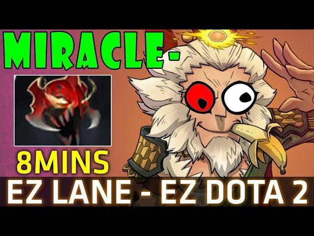 Miracle- Monkey King 7.07b - 8Mins Mask of Madness - EZ LANE EZ Dota 2