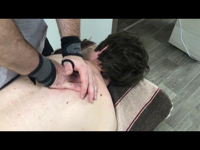 Секретный приём КостоПравства. Мануальная терапия грудного отдела. Снял старый блок