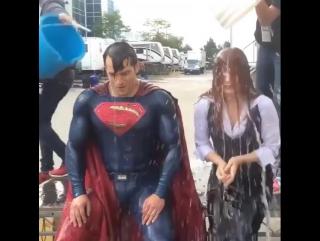 Ice bucket challenge superman style