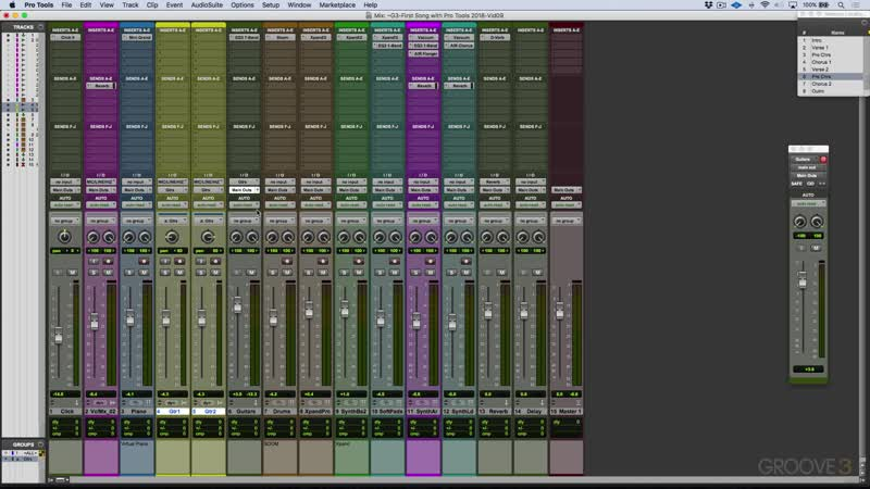 Groove3 First Song with Pro Tools 2018