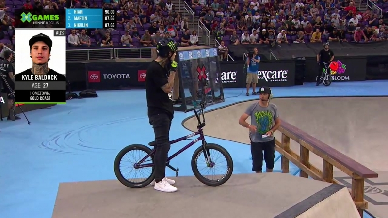BMX Street Final Dave Mirra's BMX Park Best Trick FULL BROADCAST X Games Mi