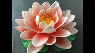 Делаем кувшинку из изолона   DIY Water lily
