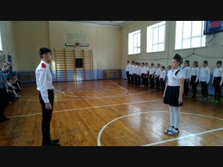 Выступление юнармейцев 5а класса