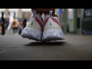 Nike React Element 87 Quick LookOn Foot (Black WhiteBeige) (2)