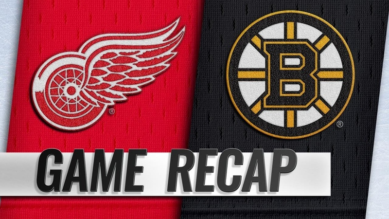 Zadina's OT goal leads Red Wings past Bruins 3 2